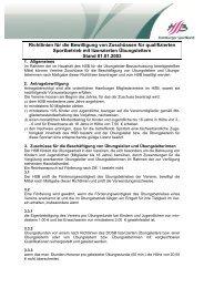 Richtlinien Übungsleiterbezuschussung - Hamburger Sportbund e.V.