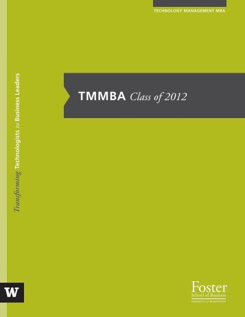TMMBA Class of 2012 - University of Washington Foster School of ...