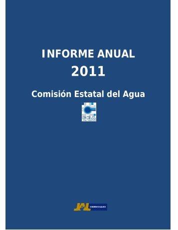 INFORME ANUAL - Comisión Estatal del Agua de Jalisco