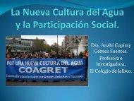 La Nueva Cultura del Agua y la participación social.