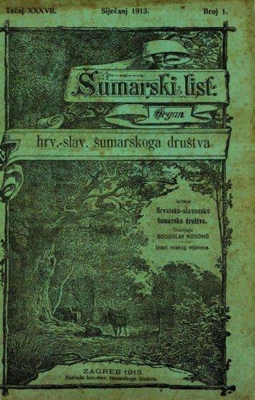 ÅUMARSKI LIST 1/1913