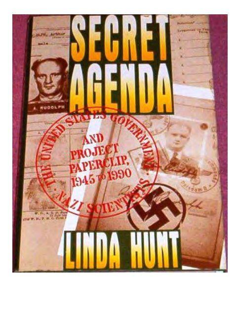 Hunt Secret Agenda The United States Government Nazi