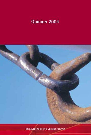Opinion 2004 : en opinionsundersökning från Styrelsen för ...