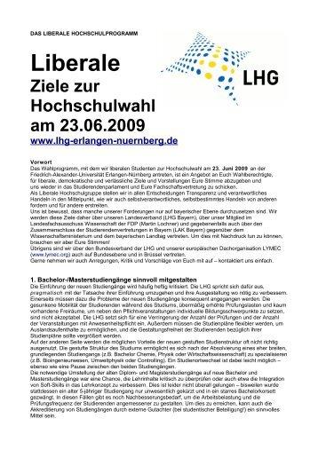 Wahlprogramm - Stuve Uni Erlangen-Nürnberg - Friedrich ...