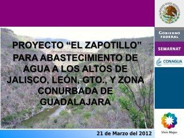 """Proyecto """"El Zapotillo"""" - Comisión Estatal del Agua de Jalisco"""