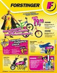 Fahrrad Frühjahrs - Forstinger