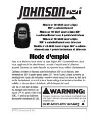 Mode d'emploi - Johnson Level