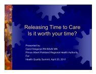 Releasing time to care - Health Care Quality Summit