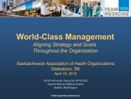 World-Class Management - Health Care Quality Summit