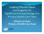 W2 - Creating Physical Space and Supports for Significant Practice ...
