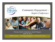 Community Engagement – - Health Care Quality Summit