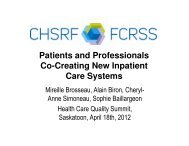 Patients and Professionals Co-Creating New Inpatient Care Systems