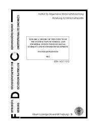 Institut für Allgemeine Wirtschaftsforschung Abteilung für ...