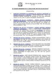 ordem do dia - Câmara Municipal de Jundiaí
