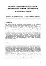 Wissenschaftlich Arbeiten - Abteilung für Wirtschaftspolitik und ...