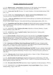 Prírastky v knižnici ÚEt SAV za rok 2010 - Ústav etnológie SAV