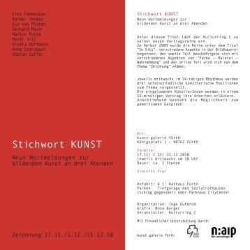 Stichwort KUNST - Kulturring C
