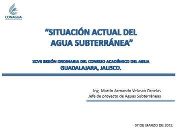 disponibilidad de aguas subterráneas - Comisión Estatal del Agua ...