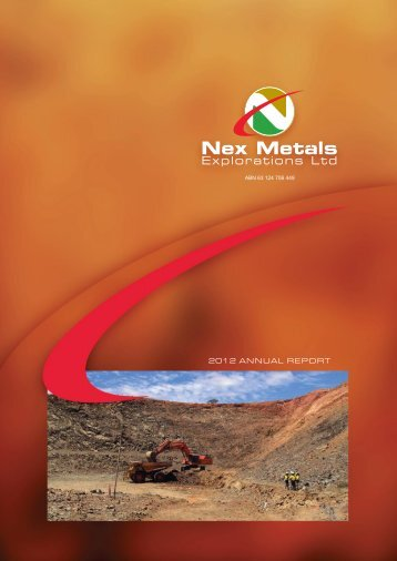 Annual Report - 2012 - Nex Metals Explorations Ltd
