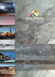 Annual Report - 2010 - Nex Metals Explorations Ltd