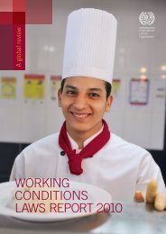 Working Conditions LaWs rEPort 2010 - International Labour ...