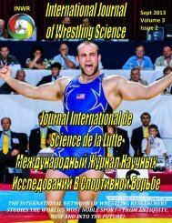 the effect of emotions among different sports ... - INWR Wrestling