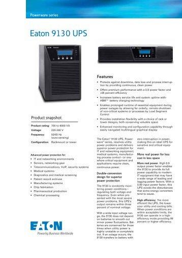 eaton powerware 9130 ups manual