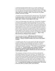 Quran: A Reformist Translation - StudyQuran