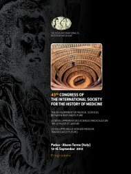 43rd CongreSS of The InTernATIonAl SoCIeTy for ... - Miguel Servet
