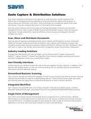 Capture and Distribution Solutions - Savin Corporation