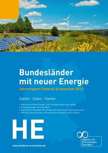 Bundesländer mit neuer Energie - Agentur für Erneuerbare Energien