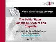 Business Culture Baltic States - Emita