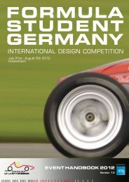 EvEnt Handbook 2012 - Formula Student Germany