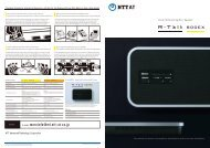 R-Talk 800EX/800PC pamphlet in English for global use - Ntt-at