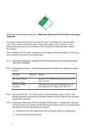1 A Planning Committee Meeting was held on ... - Shrop.NET