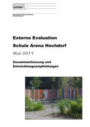 Externe Evaluation - Schule Hochdorf