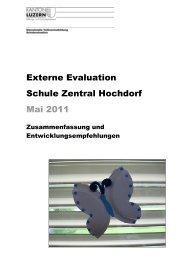 Externe Evaluation Bericht Schule Zentral - Schule Hochdorf