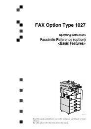 FAX Option Type 1027 - Savin