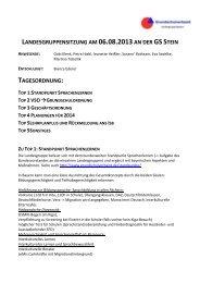 landesgruppensitzung am 06.08.2013 an der gs stein tagesordnung