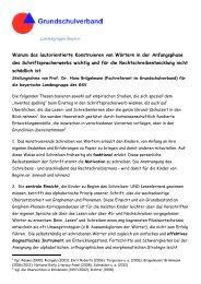 Lesen Sie hier weiter... - Grundschulverband-Bayern