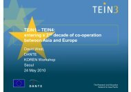 entering a 2nd decade of co-operation between Asia and ... - TEIN3