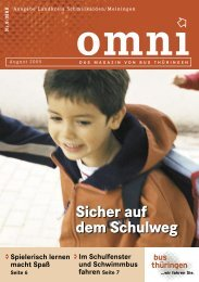 Sicher auf dem Schulweg - Bus & Bahn Thüringen