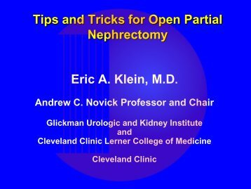 Principles of Open Partial Nephrectomy