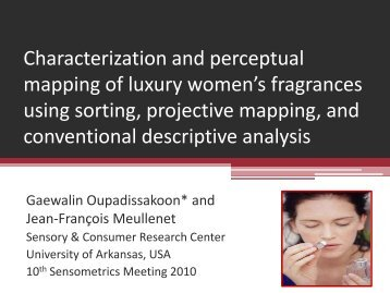 Characterization and perceptual mapping of luxury women's ...