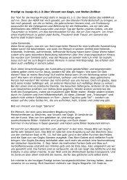 Predigt zu Jesaja 61,1-3 über Vincent van Gogh von Stefan Zolliker