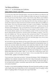 Predigt Internet - EMK Thun / Heiligenschwendi