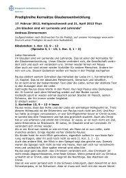 Wir sind Lernende und Lehrende - EMK Thun / Heiligenschwendi