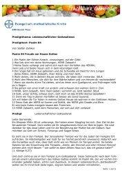Predigt leidenschaftlicher Gottesdienst Stefan Zolliker - EMK Thun ...