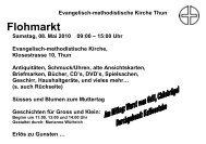 Flohmarkt - EMK Thun / Heiligenschwendi