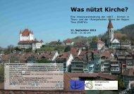 Flyer - Nutzen der Kirche.pub - Kath. Kirchgemeinde Thun